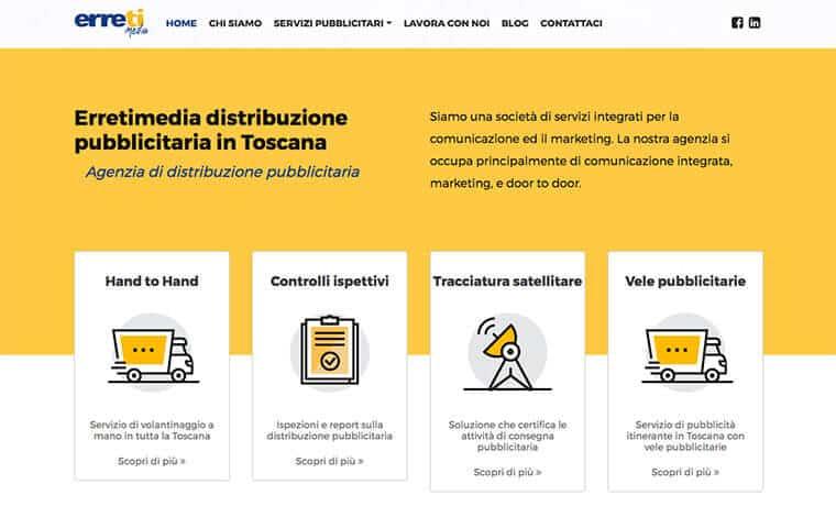 Sviluppo sito web per Erreti Media