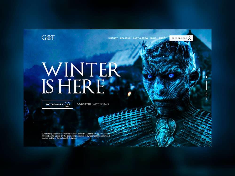 Concept di un interfaccia grafica di Games of Thrones