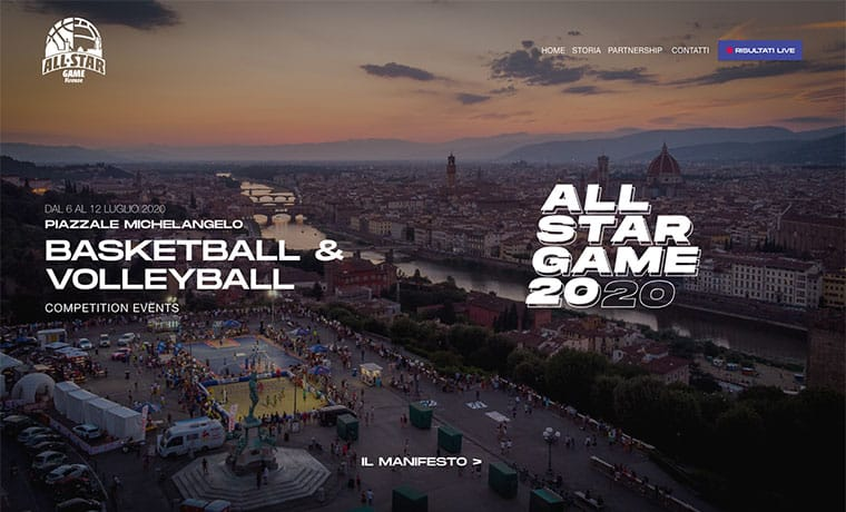 Sito web All Star Game Firenze