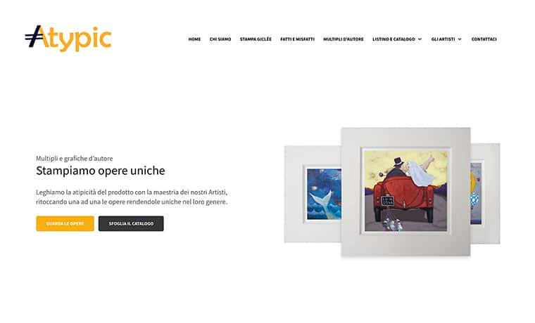 Creazione sito web per Atypic Art